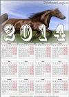 Фотокалендарь 2014-года с конем. Автор календаря - Компанец Д.А.
