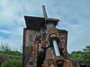 Дальнобойное орудие на оборонительных рубежах о.Русский. Автор фото - Компанец Д.А.