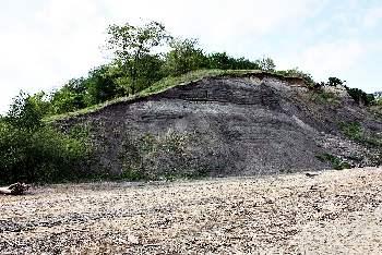 Отложения глин и песчанников датированный Юрским периодом