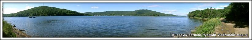 Фото Панорама снята на острове Русский.