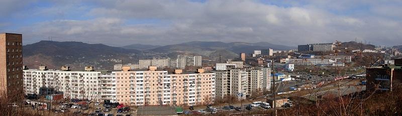 """Фото панорма Владивостока - """"Владивостокский Арбат"""""""