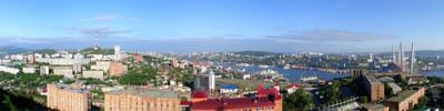 """Потрясающая панорама города Владивостока   """"Вид с сопки Крестовой"""""""