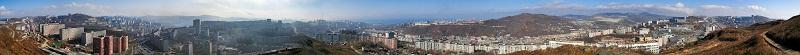"Фото панорма Владивостока - ""Круговая панорама с горы Шошина"""