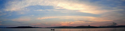 "Вечерняя панорама Владивостока   ""Рыбалка на кальмара"""