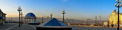 Панорама Луговая Рассвет город Владивосток.