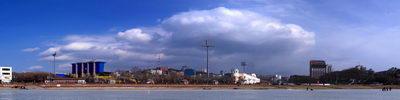 Панорама Облако над городом Владивосток.
