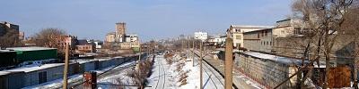 """Панорама г.Владивостока   """"Виадук Третья Рабочая """""""