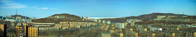 """Фото панорма Владивостока - """"Зеленый угол"""""""