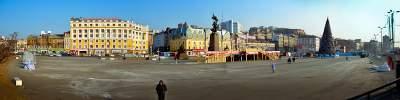Панорама Центральная площадь Владивостока.