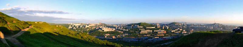 """Панорама Владивостока - """"Вид с сопки Холодильник"""""""
