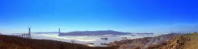 "Панорама г.Владивостока   ""Мост на остров Русский """
