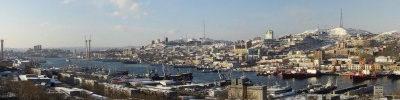 """Панорама г.Владивостока   """"Вид с Чуркина на Владивосток """""""
